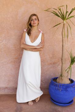 Robe longue Alexandra White