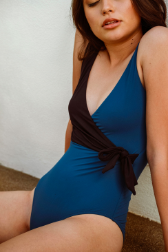 Laetitia Deep Blue one-piece
