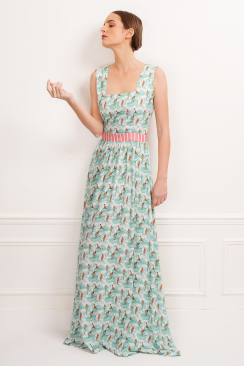 Chiara Gardenia maxi dress